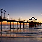 'RED' Brighton Jetty Sunset,  South Australia  by BenClarkImagery