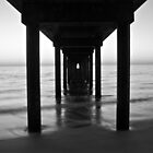 Under Brighton Jetty Sunset,  South Australia  by BenClarkImagery