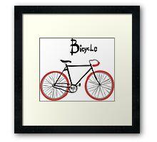 illustration of  vintage bicycle Framed Print