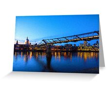 Impressions of London - Millennium Bridge and St. Paul's Cathedral Greeting Card