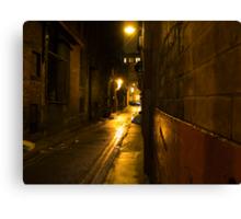 Gloomy Dark Alleyway at Night Canvas Print