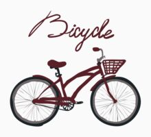 illustration of  vintage bicycle Kids Clothes
