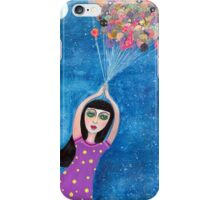 Missy and the Moon Balloons iPhone Case/Skin