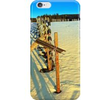 Leading fence line in winter wonderland | landscape photography iPhone Case/Skin