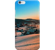 Winter wonderland afternoon panorama | landscape photography iPhone Case/Skin