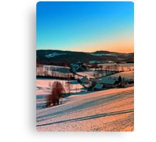 Winter wonderland afternoon panorama | landscape photography Canvas Print