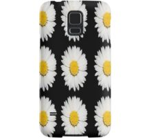 Nine Common Daisies Isolated on A Black Backgound Samsung Galaxy Case/Skin