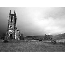 Dunlewey church black and white Photographic Print