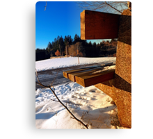 Winter afternoon point of view | landscape photography Canvas Print
