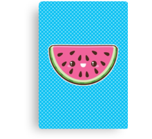 Kawaii Watermelon Slice Canvas Print
