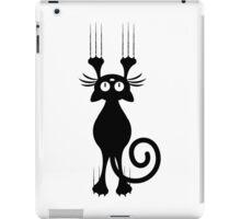 Cute Cartoon Black Cat Scratching iPad Case/Skin