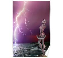 Pink Lightning - Rose and Geoff Collabe Poster