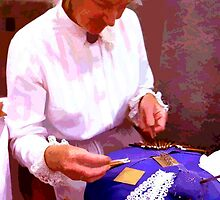 Lace-making by Peter Sandilands