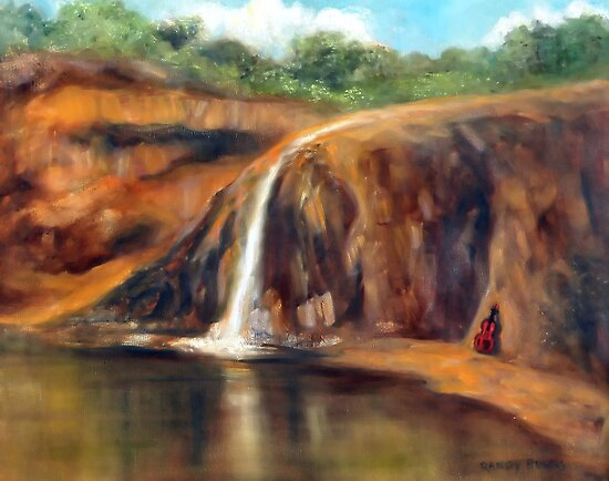 Lenox Waterfall by Randy  Burns