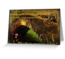 Who's That Trip-trapping Over My Bridge? Greeting Card