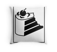 The cake is delicious. Throw Pillow