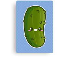 Kawaii Pickle Canvas Print