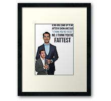 Jimmy Carr - Fatist Joke Framed Print