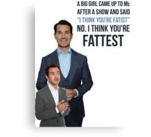 Jimmy Carr - Fatist Joke Canvas Print