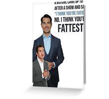 Jimmy Carr - Fatist Joke Greeting Card