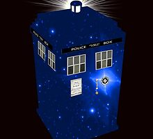 TARDIS Illustrated- Galactic Blue by zenjamin