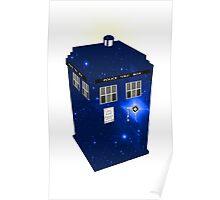 TARDIS Illustrated- Galactic Blue Poster
