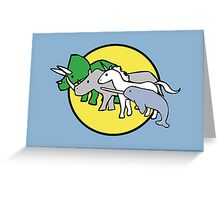 Horned Warrior Friends Greeting Card
