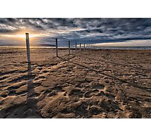 Benone Beach Posts Photographic Print