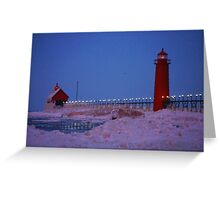 Two Shades of Blue Greeting Card