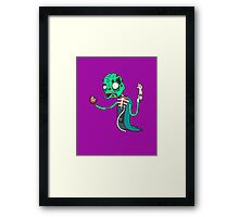 Carnihell #6 green saw man Framed Print