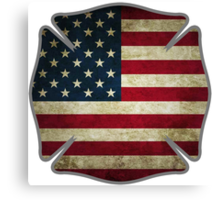 American Firefighter Canvas Print
