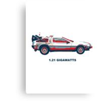 1.21 gigawatts Canvas Print
