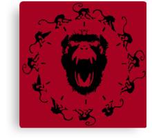 12 Monkeys - Black in Red Canvas Print