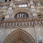 Closeup of Notre Dame cathedral, Paris by chord0