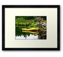 Kayak In the Garden Framed Print