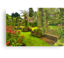 Impressions of London - Queen Mary's Rose Garden Metal Print