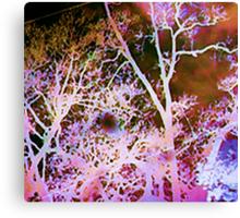 Season's Change: Abstract with Creepy Tree II  Canvas Print