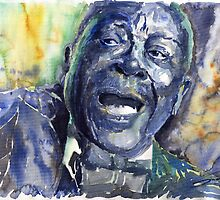 Jazz B B King 04 Blue by Yuriy Shevchuk
