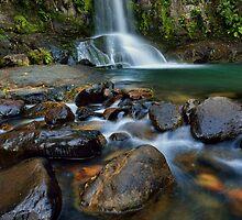 Waiau Falls Rocks by Ken Wright