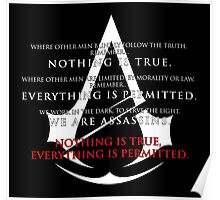 Assassin's Creed Unity and Assassin's Oath (white text) Poster