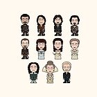 The Musketeers Cast (bag/pillow) by redscharlach