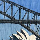 Sydney Opera House and Harbour Bridge by David Mapletoft