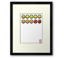 """""""On a scale of 1 to 10, how would you rate your pain?"""" Framed Print"""