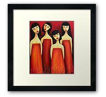 Sarong Party Girls Framed Print