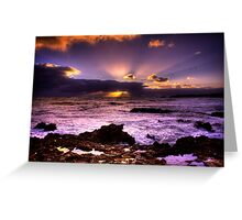 Blowhole Sunset Greeting Card