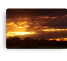 Dramatic Skies at Dusk Over South London, England Canvas Print