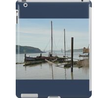 Derelict boats on the Benicia waterfront iPad Case/Skin