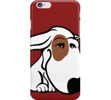 Soppy Bull Terrier White Coat Eye Patch iPhone Case/Skin