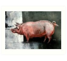 I'm Pink, Therefore I'm Ham Art Print