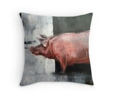 I'm Pink, Therefore I'm Ham Throw Pillow